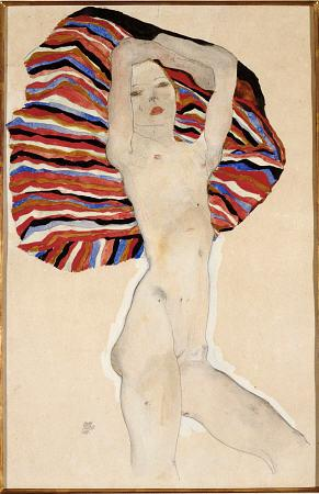 egon schiele Act Against Coloured Material print