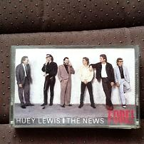 Huey Lewis and the News - Fore! UK Cassette Album