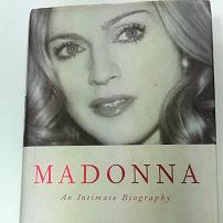 Madonna: An Intimate Biography Hardcover Book + FREE Madonna Vintage 1980s Postcard
